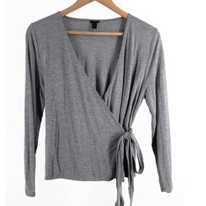 J Crew Wrap and Tie Top Long Sleeve Casual Shirt